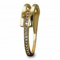 GoldDream Gold Ring Gr.56 Zirkonia weiß 333er Gelbgold GDR526Y56