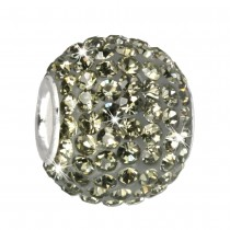 SilberDream Glitzer Bead Swarovski Elements grau Shiny GSB202