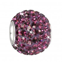 SilberDream Glitzer Bead Swarovski Elements lila Shiny GSB205