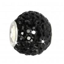 SilberDream Glitzer Bead Swarovski Elements schwarz Shiny GSB207