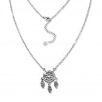 SilberDream Kette Traumfänger Zirkonia weiß 925 Silber 44-47cm Halskette GSK407W