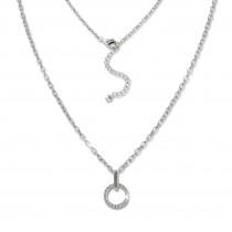 SilberDream Kette Circle Zirkonia weiß 925 Silber 42-45cm Halskette GSK410W