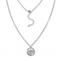 SilberDream Kette Glamour Zirkonia weiß 925 Silber 42-45cm Halskette GSK412W