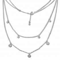 SilberDream 2er Layer Halskette Zirkonia weiß 925 Silber 44-47cm Kette GSK416W