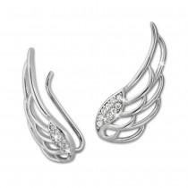 SilberDream Ear Cuff Flügel Zirkonia Ohrringe Ohrklemme 925 Silber GSO410W