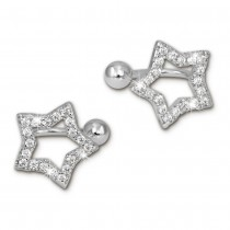 SilberDream Ohrklemme Stern Zirkonia Ear Cuff Ohrringe 925 Silber GSO434W