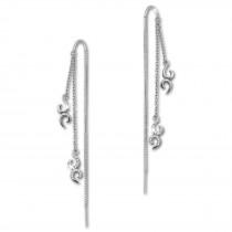 SilberDream Glitzer Ohrhänger Ornament Zirkonia weiß 925 Silber Ohrring GSO440W