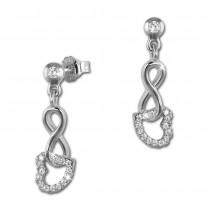 SilberDream Ohrhänger Liebe Zirkonia 925 Sterling Silber Damen Ohrring GSO453W