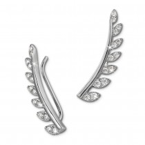 SilberDream Ear Cuff Blätter Ohrringe Ohrklemme 925 Sterling Silber GSO456W