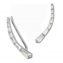 SilberDream Ear Cuff längliche Zirkonias Ohrringe Ohrklemme 925 Silber GSO457W