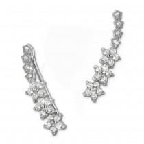 SilberDream Ear Cuff Blumenranke Ohrringe Ohrklemme 925 Sterling Silber GSO461W