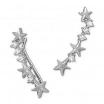 SilberDream Ear Cuff Sternchen Ohrringe Ohrklemme 925 Sterling Silber GSO464W