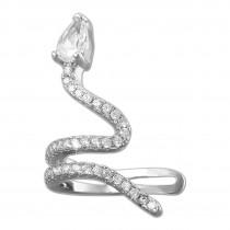 SilberDream Ohrklemme Schlange Zirkonia Ear Cuff Ohrring 925 Silber GSO470R
