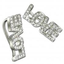 SilberDream Ear Cuff LOVE Ohrringe Ohrklemme 925 Sterling Silber GSO501W