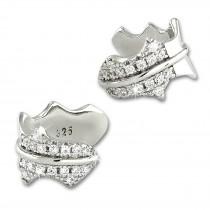 SilberDream Ohrklemme Blatt Zirkonia Ear Cuff Ohrringe 925 Silber GSO504W