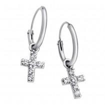 LOTUS Silver Creolen Kreuz 925 Silber LP1243-4/1 Zirkonia Trendy JLP1243-4-1