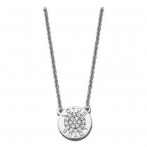 LOTUS Silver - Damen Halskette Rund weiß aus 925 Silber JLP1252-1-1