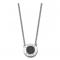 LOTUS Silver - Damen Halskette Rund schwarz aus 925 Silber JLP1252-1-4
