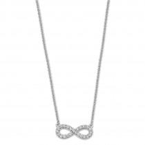 LOTUS Silver - Damen Halskette Unendlich weiß aus 925 Silber JLP1253-1-1