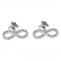 LOTUS Silver - Damen Ohrring Unendlich weiß Ohrstecker 925 Silber JLP1253-4-1