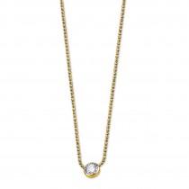 LOTUS Silver Halskette 925 Silber LP1272-1/6 gold Zirkonia Pure JLP1272-1-6