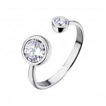 LOTUS Silver - Damen Ring Zirkonia weiß offenem Ring aus 925 Silber JLP1272-3-1