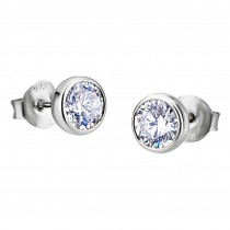LOTUS Silver - Damen Ohrring Zirkonia weiß Ohrstecker aus 925 Silber JLP1272-4-1