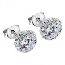 LOTUS Silver - Damen Ohrring Blume weiß Ohrstecker aus 925 Silber JLP1290-4-1