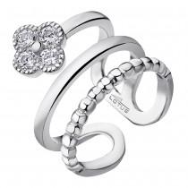 LOTUS Silver Ring Blume 925 Silber LP1612-3/1 weiß Zirkonia JLP1612-3-1