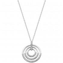 LOTUS Silver - Damen Halskette Kreise weiß aus 925 Silber JLP1755-1-1