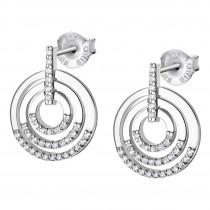 LOTUS Silver - Damen Ohrring Kreise weiß Ohrstecker aus 925 Silber JLP1755-4-1