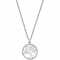 LOTUS Silver - Damen Halskette Lebensbaum weiß aus 925 Silber JLP1778-1-1