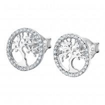 LOTUS Silver - Damen Ohrringe Lebensbaum weiß Ohrstecker 925 Silber JLP1778-4-1