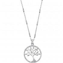 LOTUS Silver - Damen Halskette Lebensbaum weiß aus 925 Silber JLP1780-1-1