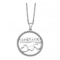 LOTUS Silver Halskette Mama Herzen 925 Silber LP1809-1/1 Zirkonia JLP1809-1-1