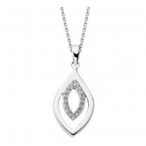 LOTUS Silver Halskette Blatt 925 Silber LP1836-1/1 Zirkonia JLP1836-1-1