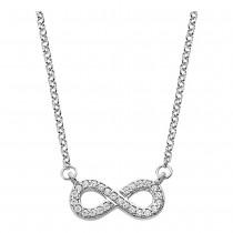 LOTUS Silver Halskette Unendlich 925 Silber LP1859-1/1 Zirkonia JLP1859-1-1