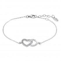 LOTUS Silver - Damen Armband Herz weiß aus 925 Silber JLP1864-2-1