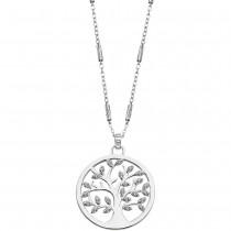 LOTUS Silver - Damen Halskette Lebensbaum weiß aus 925 Silber JLP1892-1-1