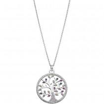 LOTUS Silver - Damen Halskette Lebensbaum farbig aus 925 Silber JLP1896-1-1