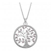 LOTUS Silver Halskette Lebensbaum SILBER LP1897-1/1 rosa Zirkonia JLP1897-1-1