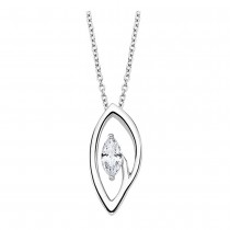 LOTUS Silver Halskette Oval 925 Silber LP1910-1/1 weiß Zirkonia JLP1910-1-1