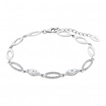 LOTUS Silver Armband Oval 925 Silber LP1919-2/1 weiß Zirkonia Trendy JLP1919-2-1