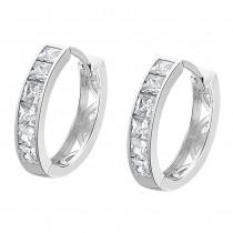 LOTUS Silver Damen Ohrringe Zirkonia weiß Creolen aus 925 Silber JLP1936-4-1
