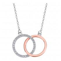 LOTUS Silver Halskette Kreise 925 Silber LP1955-1/1 rose Zirkonia JLP1955-1-1