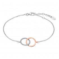 LOTUS Silver Armband Kreise 925 Silber LP1955-2/1 rose weiß Zirkonia JLP1955-2-1