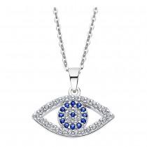 LOTUS Silver Halskette Auge Horus SILBER LP1970-1/1 blau Zirkonia JLP1970-1-1