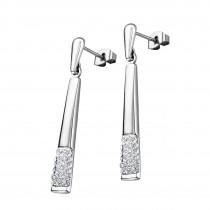 LOTUS Style Ohrhänger Damen Edelstahl silber LS1767-4/1 Glitzer JLS1767-4-1
