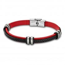 LOTUS Style Armband Damen Herren LS1829-2/3 Leder rot schwarz JLS1829-2-3