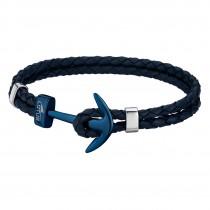 LOTUS Style Armband Herren Leder blau LS1832-2/a Anker Schmuck JLS1832-2-A